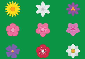 Flower Icons - vector #442411 gratis