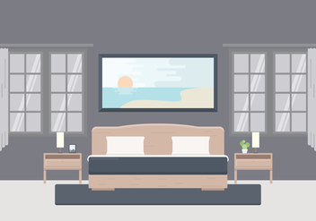 Free Illustration of Bedroom With Furniture - vector gratuit #442431
