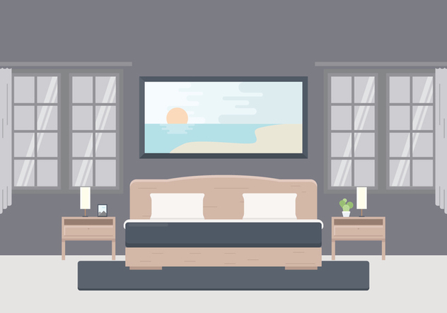 Free Illustration of Bedroom With Furniture - Free vector #442431