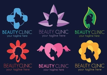 Beauty Clinic logo template design set - Free vector #442441