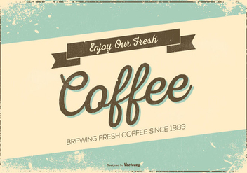 Retro Grunge Style Promotional Coffee Poster - Free vector #442481