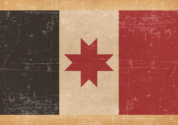 Old Grunge flag of Udmurtia - vector #442491 gratis