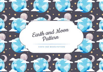 Vector Moon and Earth Seamless Pattern - Free vector #442581