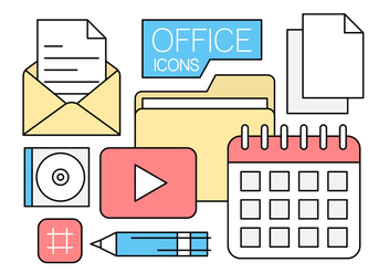 Free Linear Office Icons in Minimal Style - vector gratuit #442661