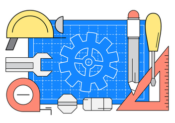 Linear Engineering Vector Icons - бесплатный vector #442671