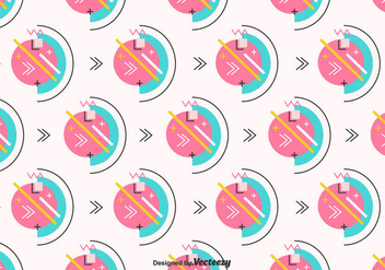 Retro Geometric Vector Pattern - Free vector #442701