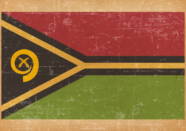 Old Grunge Flag of Vanuatu - Kostenloses vector #442721