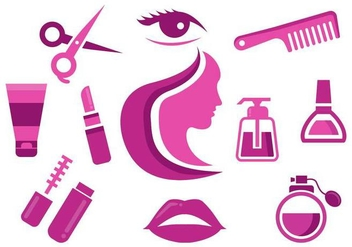 Free Beauty Icons vector - бесплатный vector #442801