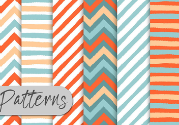 Colorful Stripes Pattern Set - Kostenloses vector #442961