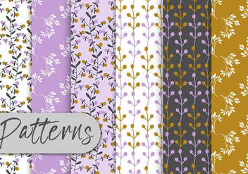 Romantic Floral Pattern Set - vector #442991 gratis
