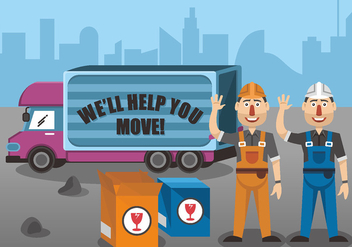 Movers Vector Design - vector #443011 gratis