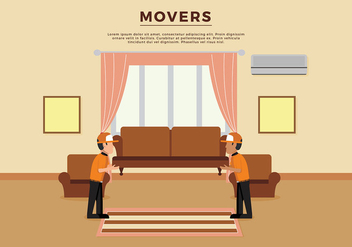 Movers Illustration Template Free Vector - vector #443031 gratis