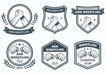 Arm Wrestling Badge Collection - бесплатный vector #443041