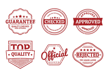 Cachet Seal Set Free Vector - бесплатный vector #443051