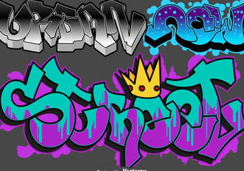 Vector Graffiti Urban Art Set - Free vector #443061