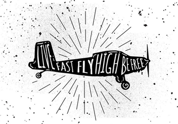 Free Hand Drawn Airplane Background - vector #443071 gratis