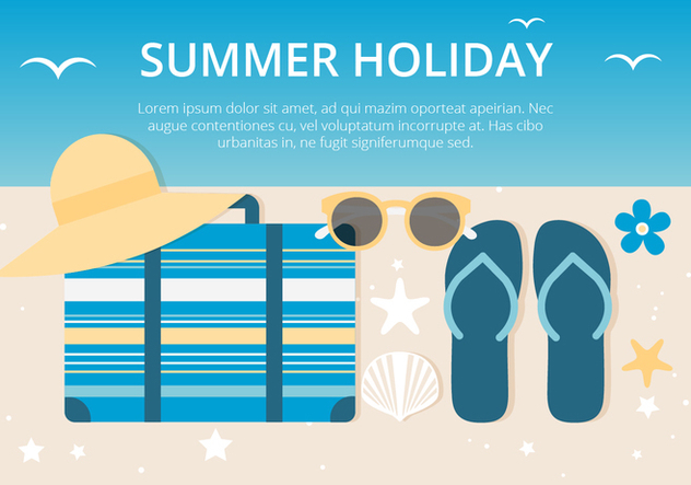 Free Summer Holiday Background - vector gratuit #443101