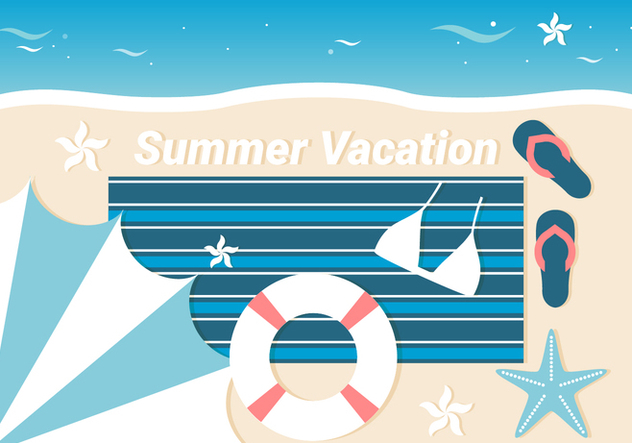 Free Summer Traveling Template Background - vector gratuit #443111