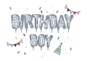 Free Birthday Boy Vector - vector #443131 gratis