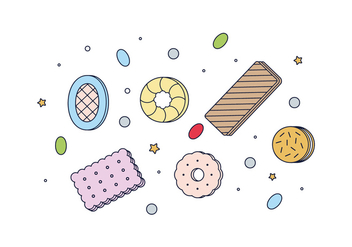 Free Cookies And Candies Vector - бесплатный vector #443141