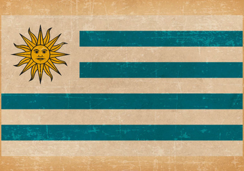 Old Grunge Flag of Uruguay - бесплатный vector #443161