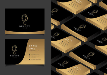 Beauty Clinic Business Card Mockup Free Vector - vector gratuit #443191