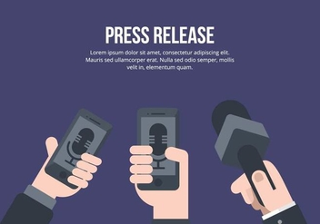 Press Release Illustration - Free vector #443331