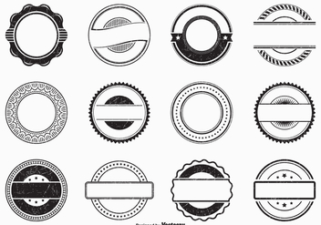 Black Empty Grunge Vector Rubber Stamps - Kostenloses vector #443361