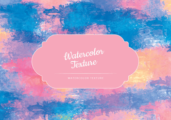 Vector Watercolor Colorful Texture - vector gratuit #443431