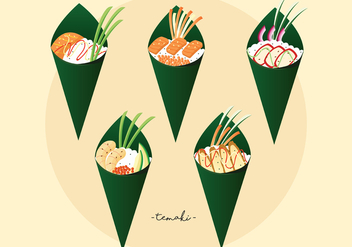 Temaki Vector Pack - бесплатный vector #443451