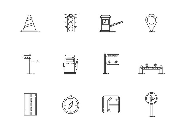 Outline Traffic Icons - Free vector #443621
