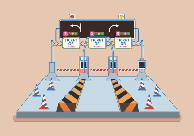 Toll Gate Vector - vector #443631 gratis