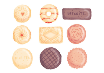Vector Hand Drawn Biscuits - Free vector #443641