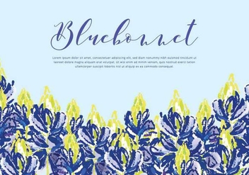 Bluebonnet Vector Background - бесплатный vector #443661