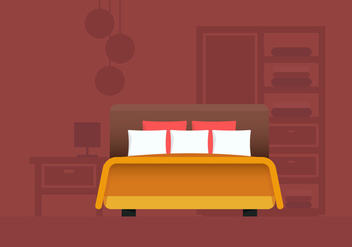 Headboard Bedroom and Furniture - vector gratuit #443851
