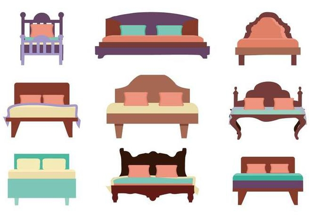 Free Furniture Bed Vector - Free vector #443951