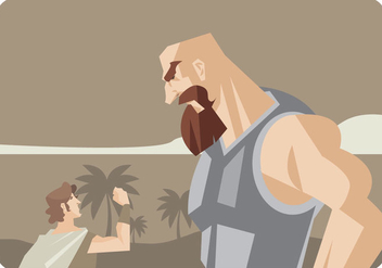 David and Goliath Vector - vector #443961 gratis