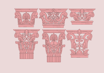 Corinthian Pink Color Vectors - бесплатный vector #444001