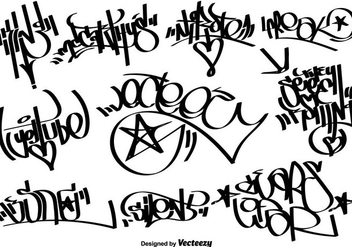 Vector Graffiti Tags - vector gratuit #444011