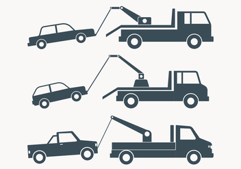Towing Truck Simple Illustration - бесплатный vector #444021