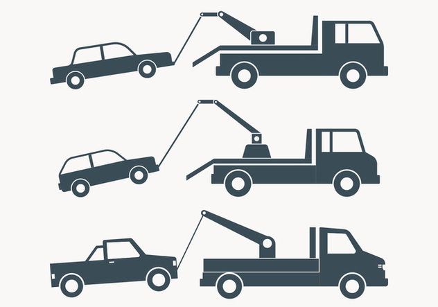 Towing Truck Simple Illustration - Kostenloses vector #444021