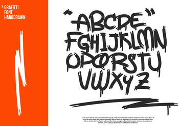 Graffiti Hand-drawn Vector Alphabet - бесплатный vector #444071