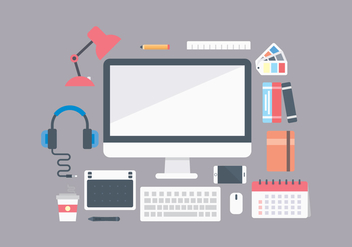 Free Office Workplace Items - vector #444121 gratis