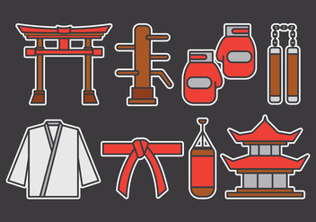 Dojo Vector Icons Set - vector gratuit #444231