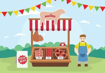 Free Charcuterie Stand Illustration - бесплатный vector #444271