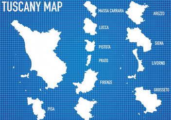 Tuscany Map Vector - бесплатный vector #444281