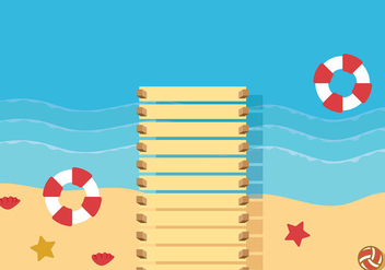 Boardwalk Background Vector - бесплатный vector #444291