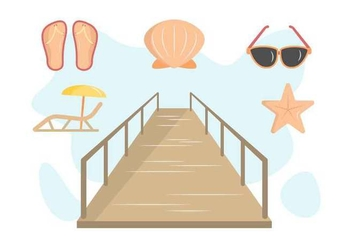 Free Outstanding Boardwalk Vectors - Free vector #444311