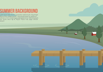 Boardwalk Vector - vector #444321 gratis