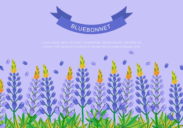 Bluebonnet for Background Design - vector #444361 gratis
